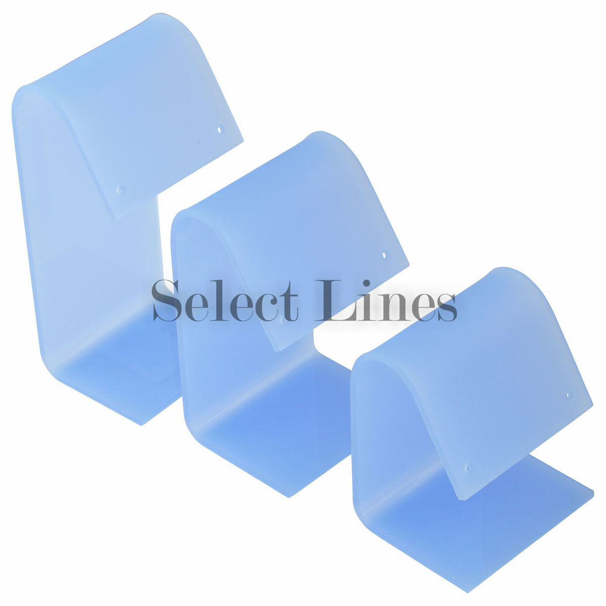 Frost Blue Acrylic 3pc Earring Stand Set Jewelry Displays