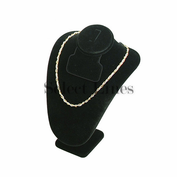 Black Velvet 7 5 H Necklace Earring Ring Bust Small Jewelry Display Stand Forms