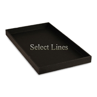 """Black Faux Leather Standard 1""""H Utility Jewelry Display Tray"""
