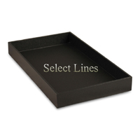 """Black Faux Leather Standard 1.5""""H Utility Jewelry Display Tray"""