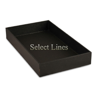 """Black Faux Leather Standard 2""""H Utility Jewelry Display Tray"""