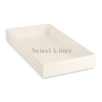 """White Faux Leather Standard 2""""H Utility Jewelry Display Tray"""