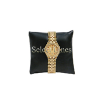 """Black Faux Leather Pillow Jewelry Display 3x3"""""""