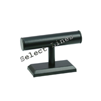 """Black Faux Leather Bracelet Watch T-Bar 5""""H Jewelry Holder Display Stand Rack"""