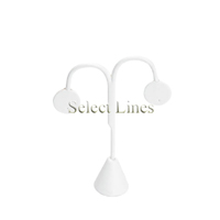 """White Faux Leather Tree Drop Earring Stand Jewelry Display 5.25""""H"""
