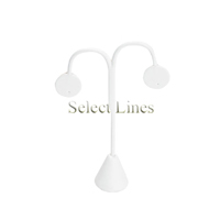 """White Faux Leather Tree Drop Earring Stand Jewelry Display 4-3/4""""H"""