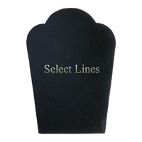 """Black Velvet Necklace Easel Display 5.25""""H Jewelry Display Stand Forms"""