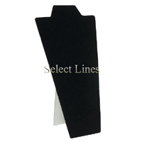 """Black Velvet Necklace Easel Display 8.75""""H Jewelry Display Stand Forms"""