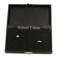 Black 24 Ring Slot Traveller's Case Salesman Tray Display