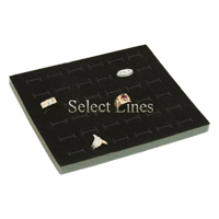 36 Slot Black Foam Standard Ring Tray Insert