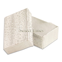 100 pcs Silver Cotton Filled Jewelry Gift Boxes 2x1