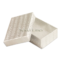 100 pcs Silver Cotton Filled Jewelry Gift Boxes 3x2