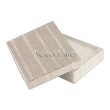 100 pcs Silver Cotton Filled Jewelry Gift Boxes 5x3