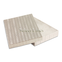 100 pcs Silver Cotton Filled Jewelry Gift Boxes 7x5