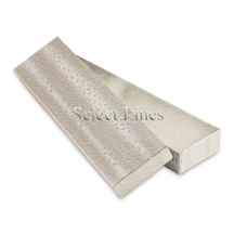 100 pcs Silver Cotton Filled Jewelry Gift Boxes 8x2