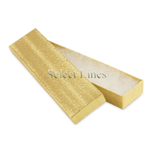 100 pcs Gold Cotton Filled Jewelry Gift Boxes 8x2