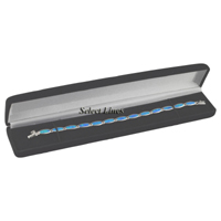Black Velvet Narrow Bracelet Jewelry Gift Box Display