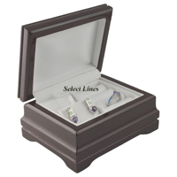 Rosewood Necklace Earring Ring Set Jewelry Gift Box Display