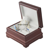 Rosewood Pouch & Ring Set Jewelry Gift Box Display