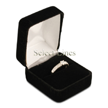 Black Velvet Ring Jewelry Jewelry Gift Box