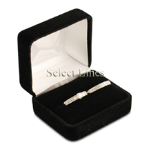 Black Velvet Double Ring Jewelry Jewelry Gift Box