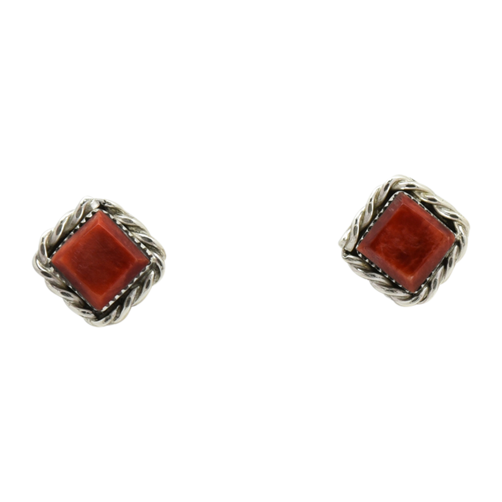 """Native American Zuni Sterling 3//16/"""" Turquoise   Stud Post Earrings Navajo Nice!"""